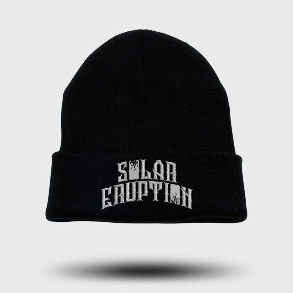 "Beanie ""Solar Eruption"" embroidered"