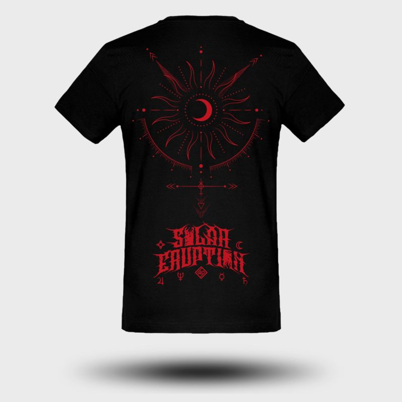 SOLAR ERUPTION - Red Apocalypse tshirt BACK